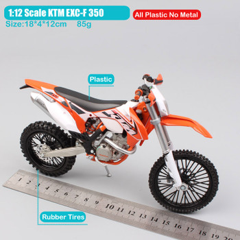 Brand 1:12 scale mini KTM EXC-F 350 EXC Enduro Motocross off road Motorcycle Die casting dirt Models race car toys for children
