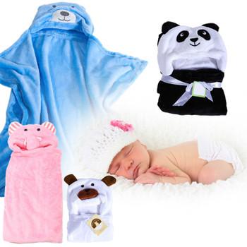 Baby Bathrobe Cute Animal Panda Flannel Cartoon Baby Kids Bath Towel with  Hood Toddler Blankets Super bac9d71c8