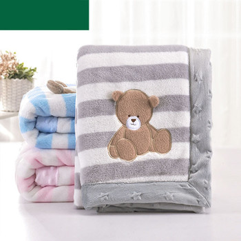 Baby Girl Blanket Newborn Swaddle Wrap Cute Cartoon Pattern Toddler Boys Stroller Bedding Blankets Winter Flannel Children Quilt