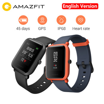 "English Version Xiaomi Huami Amazfit Bip Pace Youth Smart Watch Mi Fit 1.28"" Screen 32g Ultra-Light IP68 Waterproof GPS Watch"