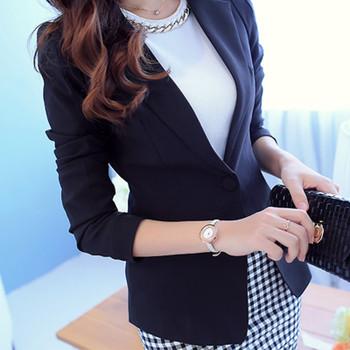 PEONFLY Ladies Blazer Long Sleeve Blaser Women Suit jacket Female Feminine Blazer Femme Pink Blue White Black Blazer 2020