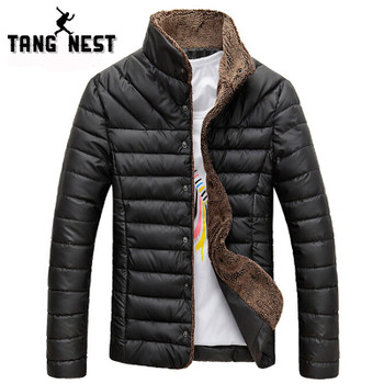 TANGNEST 2020 Men Winter Jacket Warm Casual All-match Single Breasted Solid Men Coat Popular Coat Two Colors Size M-3XL MWM432
