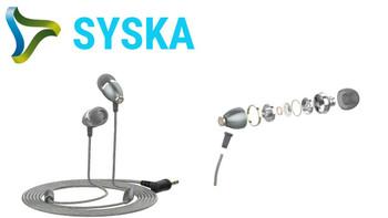 Syska Ultra Bass Earphones - HE2500-BK