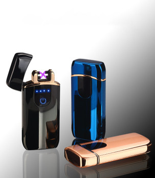 Double Arc Usb lighter Plasma Lighter Free Laser Logo Electronic Lighter Cigarette Lighter