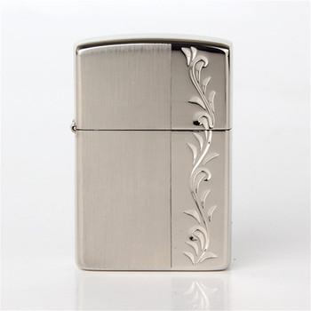 2018 new oil lighter Silver color Hand carved vine pattern Metal Copper material kerosene lighters Z8425