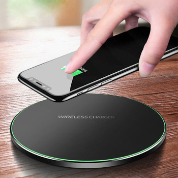 Qi Wireless Charger For iPhone 8 Plus X XR XS Max QC3.0 10W Fast Wireless Charging For Samsung S9 S8 Plus Note 9 USB Charger Pad