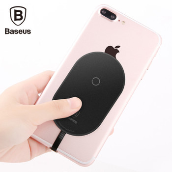 Baseus Qi Wireless Charger Receiver For iPhone 7 6 6s Plus Wireless Charging Adapter Receptor For Samsung Xiaomi Android Phone