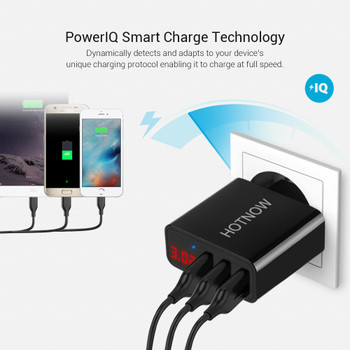 HOTNOW USB Charger Travel LED display Portable Wall Charger Adapter EU/US Plug Mobile Phone Chargers For iPhone Samsung xiaomi