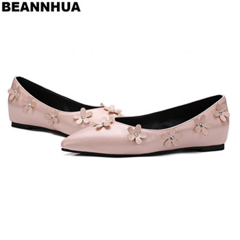 2018  Hot Sell Flower BEANNHUA Brand Women Flats Wholesale and retail size 35-39 Drop Shipping  042