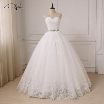ADLN Cheap Wedding Dress 2018 Ball Gown Sweetheart Tulle Bride Dresses Vestido De Noiva Robe De Mariee Custom Plus Size