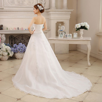 Cheap Real Photo Customized Princess Lace with Train China 2017 Vintage Plus Size Wedding Dresses Bridal Gowns vestido de noiva