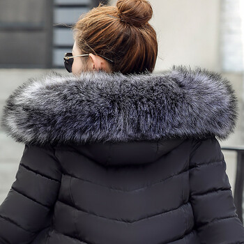 2020 Fashion winter jacket coat women Long thicken down cotton-padded faux big fur collar warm female Lady's outwear