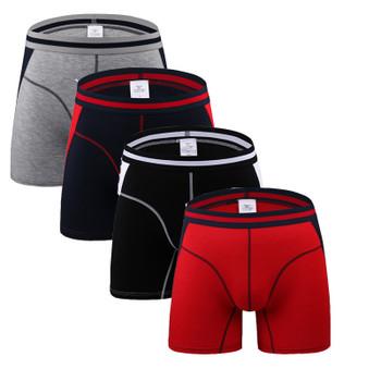 4Pcs/lot Comfortable Long Leg Short Leg Mens Boxers Shorts Male Underpants U-Convex Man Underwear Cueca Masculina M,L,XL,2XL,3XL