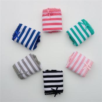 FUNCILAC 5pcs/lot Cotton women's briefs sexy low-waist panties Ladies briefs Ladies Cotton Briefs underwear