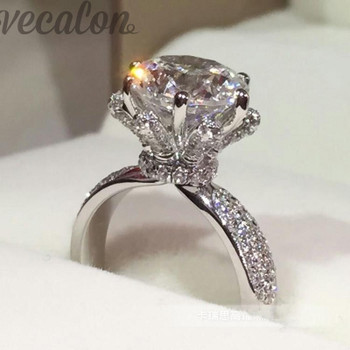 Promotion 94%OFF Vecalon Engagement wedding Band ring for women 3ct AAAAA Cz Stone ring 925 Sterling Silver Female Finger ring