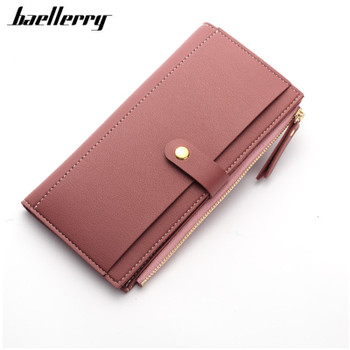 Luxury Women Wallet PU Leather Long Solid Zipper Wallet Money Bag Coin Purse Female Credit Card Holder Long Lady Clutch