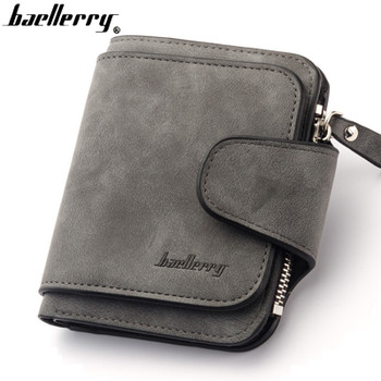 Vintage women wallet leather purse quality guarantee trifold brown credit card holder famous brand luxury wallets HOT