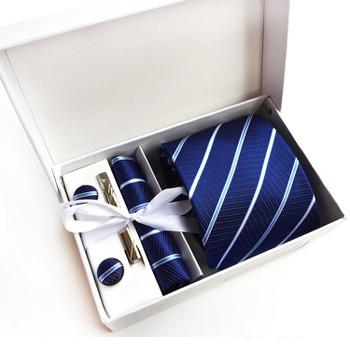 2017 New Arrival Silk Striped Men Ties Neck tie set Woven Formal wear business wedding party Classic hombre gravatas K16
