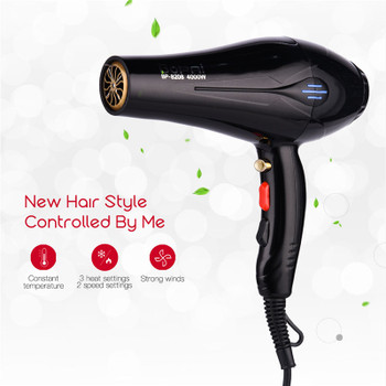 4000W Powerful Professional Salon Hair Dryer Negative Ion Blow Dryer Electric Hairdryer Hot/Cold Wind With Air Collecting Nozzle