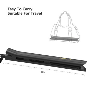 Professional Hair Straightener, Flat Iron for Hair Styling 2 in 1 Tourmaline Ceramic Flat Iron for All Hair Types