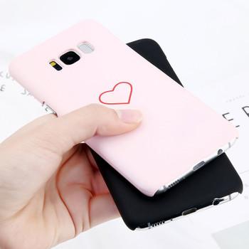 USLION Phone Case For Samsung Galaxy S8 Plus S7 Edge Cartoon Love Heart Cases Slim Hard PC Cover Fundas For Galaxy Note 8 S8 S7