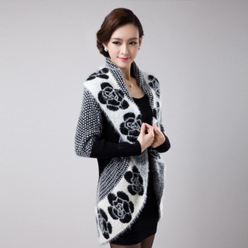 New Autumn Spring Women Sweater Cardigans Casual Warm Female Knitted Sweater Flower Cardigan Sweater Lady