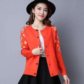 2017 New Fashion Autumn Spring  Women Sweater Cardigans Casual Warm F Female Knitted Coat Cardigan Sweater Lady