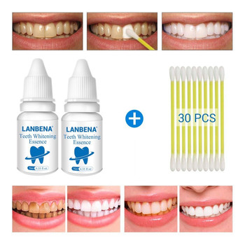 2 pcs.LANBENA teeth whitening essence powder oral hygiene cleaning serums removes plaque dyes teeth whitening dental instruments