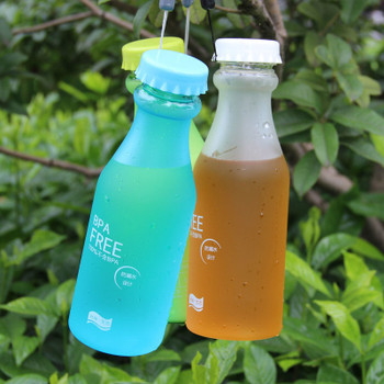 Candy Colors Unbreakable Frosted Leak-proof Plastic kettle 550mL Free Portable Water Bottle for Travel Yoga Running Camping