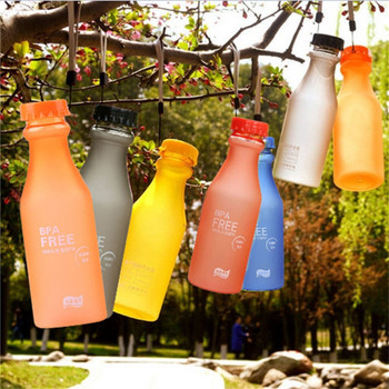 550ML Unbreakable Outdoor Sports Travel Water Bottle Portable Leak-proof new and high quality Plastic Frosted soda Bottle @C