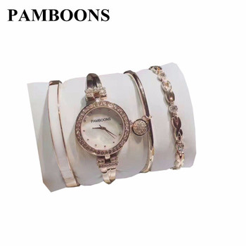 Luxury brand set Women Rhinestone Watch Crystal Ceramic Watches Female Best Wristwatches Lady Dress Watch relogio feminino AK 01