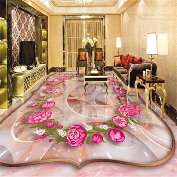 beibehang Rose marble three-dimensional jade carving 3d flooring tile painting papel de parede para quarto 3d wallpaper tapety