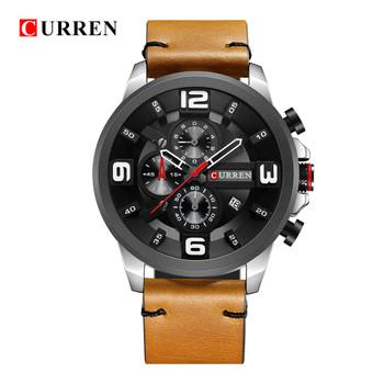 CURREN 8288 Top Luxury Brand Men Watches Men's Sports Quartz Clock Man Leather Army Military Wristwatch Relogio Masculino Gifts