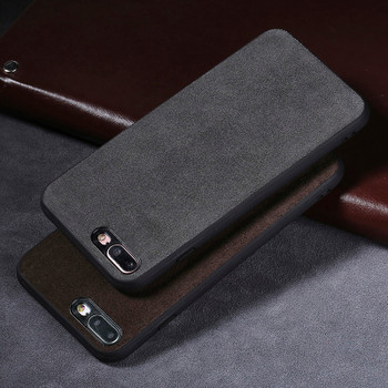 Low-key luxury Genuine leather Phone case For iPhone 7P case Suede leather back cover For 6 6S 7 8 Plus X 5 5S SE cases