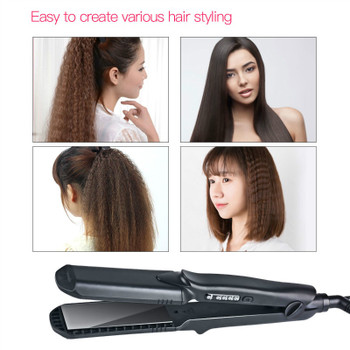 4 size Wave plate Flat Iron Ceramic Corrugated Temperature Control Hair Curling Iron Hair Curler Styler Styling Tool 100-240V 50