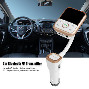 Onever Wireless Handsfree FM Transmitter Bluetooth Car Kit 2.1A USB Car Charger MP3 Player FM Modulator Car MP3 Car Accessories