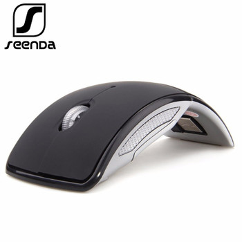 SeenDa 2.4G Wireless Mouse Foldable Mouse for Computer Notebook Portable Optical Mouse Mini Mice for Windows Laptop PC Desktop