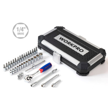 """WORKPRO 35PC Tool Set Home Instruments Set of Tools for Car Repair Tools 1/4"""" Dr. Socket Set Ratchet Wrench"""
