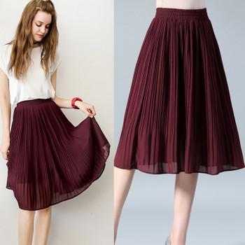 19ee4a1d282e8 ... Pleated Skirts Womens Saias Midi Faldas Vintage Women · Choose Options