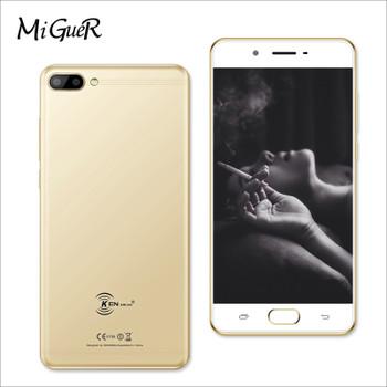 KENXINDA X6 Fingerprint Mobile Phone 5.0 Inch Android 7.0 Quad Core 3GB RAM 32GB ROM 13.0MP+8.0MP 3500mAh 4G Smartphone