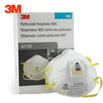 10 pcs/box 3M 8210V Dust Mask N95 Particulate Respirator Anti-PM2.5 Industrial Dustproof Anti Particles Safety Breathing Masks