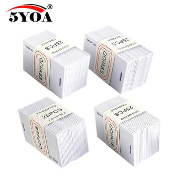 100pcs 5YOA EM4100 Badge 125khz ID Keyfob RFID llaveros llavero Porta Chave Card Thick Proximity