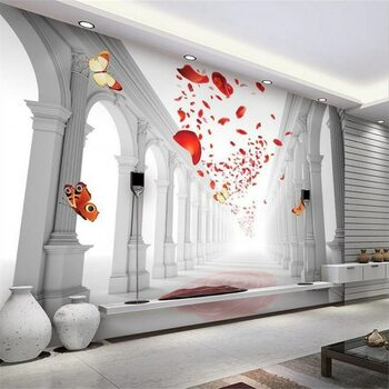 beibehang Custom wallpaper 3d photo murals European romantic wedding hall living room TV background wall painting 3d wallpaper