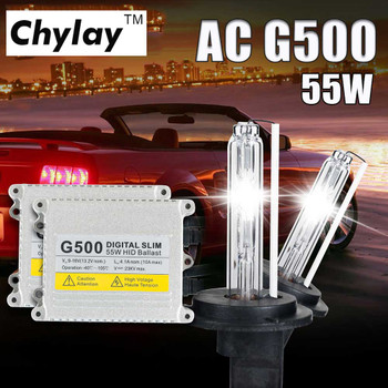 1 Set H4 Xenon H7 H1 H11 D2S G500 Silm Digital Ballast for Car Headlight Bulb H3 H8 HB3 HB4 881 HID Xenon Kit 4300K 6000K 8000K