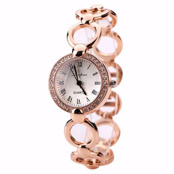 Brand Rose Gold Luxury Women Dress watches Girls Quartz watch Bracelet watch Ladies Fashion Crystal Wristwatch Relogio Feminino