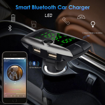Wireless Bluetooth FM Transmitter Modulator Car Kit MP3 Player Dual USB Car Charger For Dropshipping or Wholesale USPS