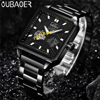 OUBAOER Automatic Mechanical Men Watch Top Brand Luxury Stainless Steel Mens Watches Military Sport Skeleton Male Clock Hot 2003