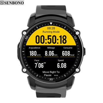 SENBONO FS08 GPS Bluetooth Sport Smart Watch IP68 Waterproof Swim Fitness Tracker Stopwatch Heart Rate Monitor Smartwatch