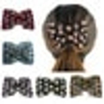 Mixed Stretch Flower Bow Beaded Cuff Double Clip Hairpin Metal Magic Hair Comb For Women Hair Accessories Jewelry