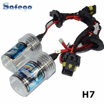 Safego AC 35W xenon H7 xenon hid Headlight bulbs replacement 8000K 6000K Auto Car HID xenon Light headlamp 4300K